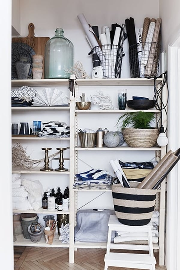 shelving unit- cleaning-up -IKEA living inspiration