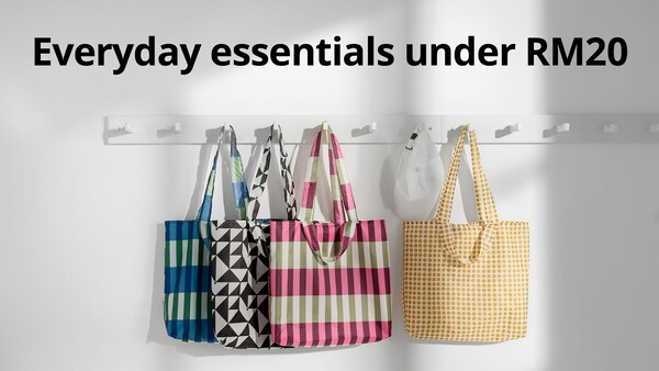 Shop everyday essentials to complete your home, all under RM20