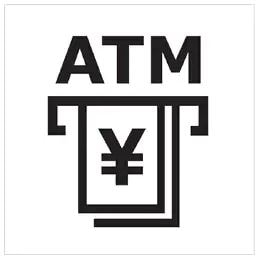 Sign for ATM.