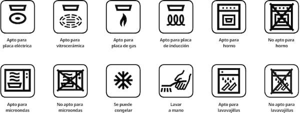 Símbolos del buen uso de tus ollas y sartenes