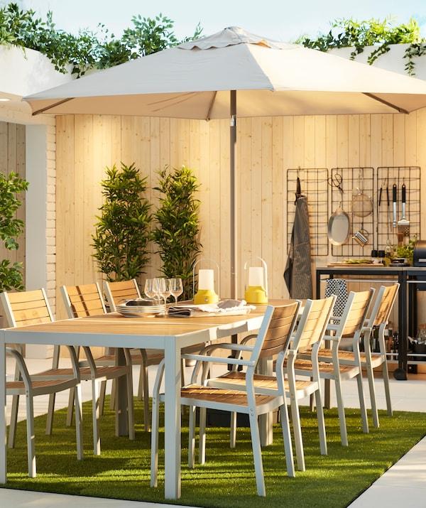 SJÄLLAND spisestuesett til terrassen for hyggelige sommerdager.