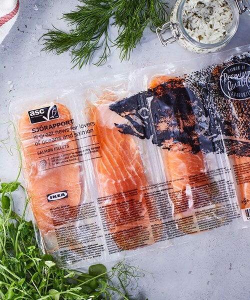 SJÖRAPPORT Salmon filet, ASC certified/frozen, 1.102lb $12.99. Valid November 1 - 30 for IKEA Family members only. In-store only.