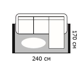 Схема диван и ковер 240х170