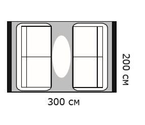 Схема диван и ковер 300