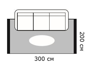Схема диван и ковер 300х200