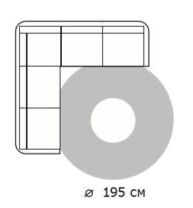 Схема диван угловой и ковер 195