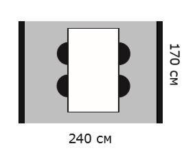 Схема стол 240х170