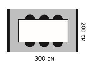 Схема стол 300х200