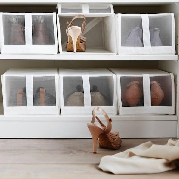 SKUBB Boxen als Schuhboxen in einem PAX Kleiderschrank
