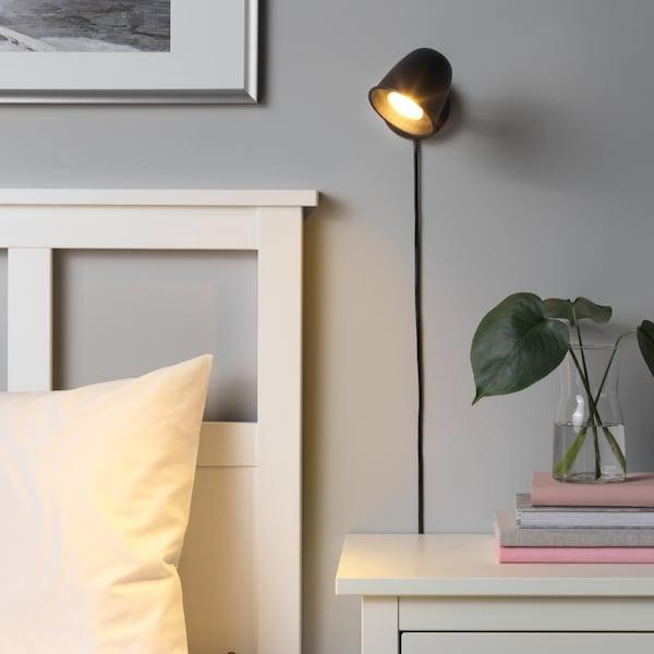 SKURUP Nástěnná lampa, černá.