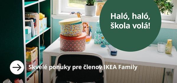 Skvelé ponuky výrobkov do školy so špeciálnymi cenami pre členov IKEA Family.