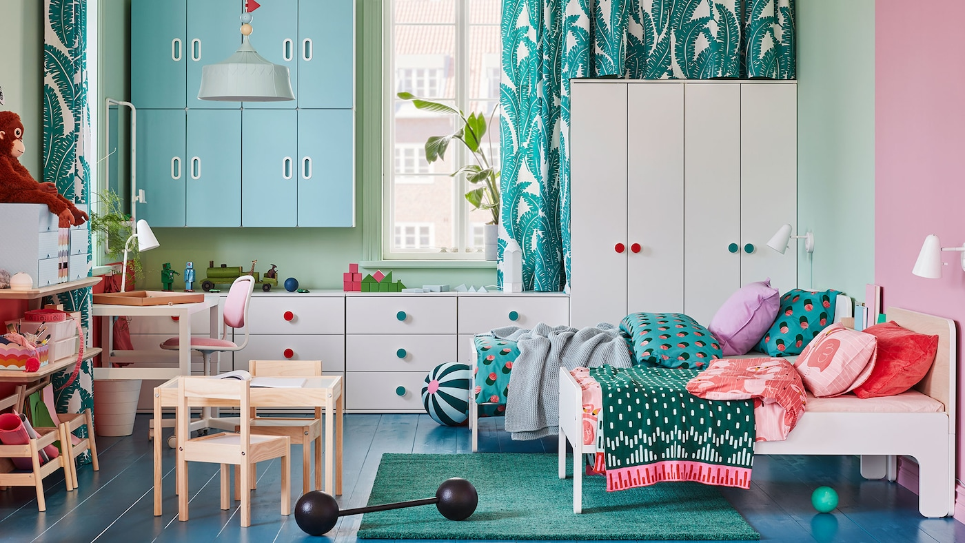SLÄKT lit extensible blanc IKEA