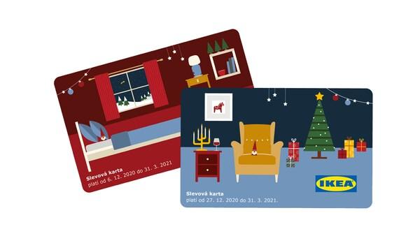 Slevové karty IKEA za čokoládový adventní kalendář.