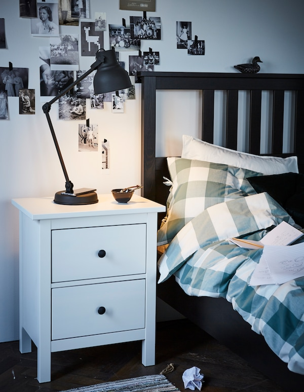 Slimme verlichting - slaapkamer - HEKTAR bureaulamp draadloos opladen - IKEA wooninspiratie