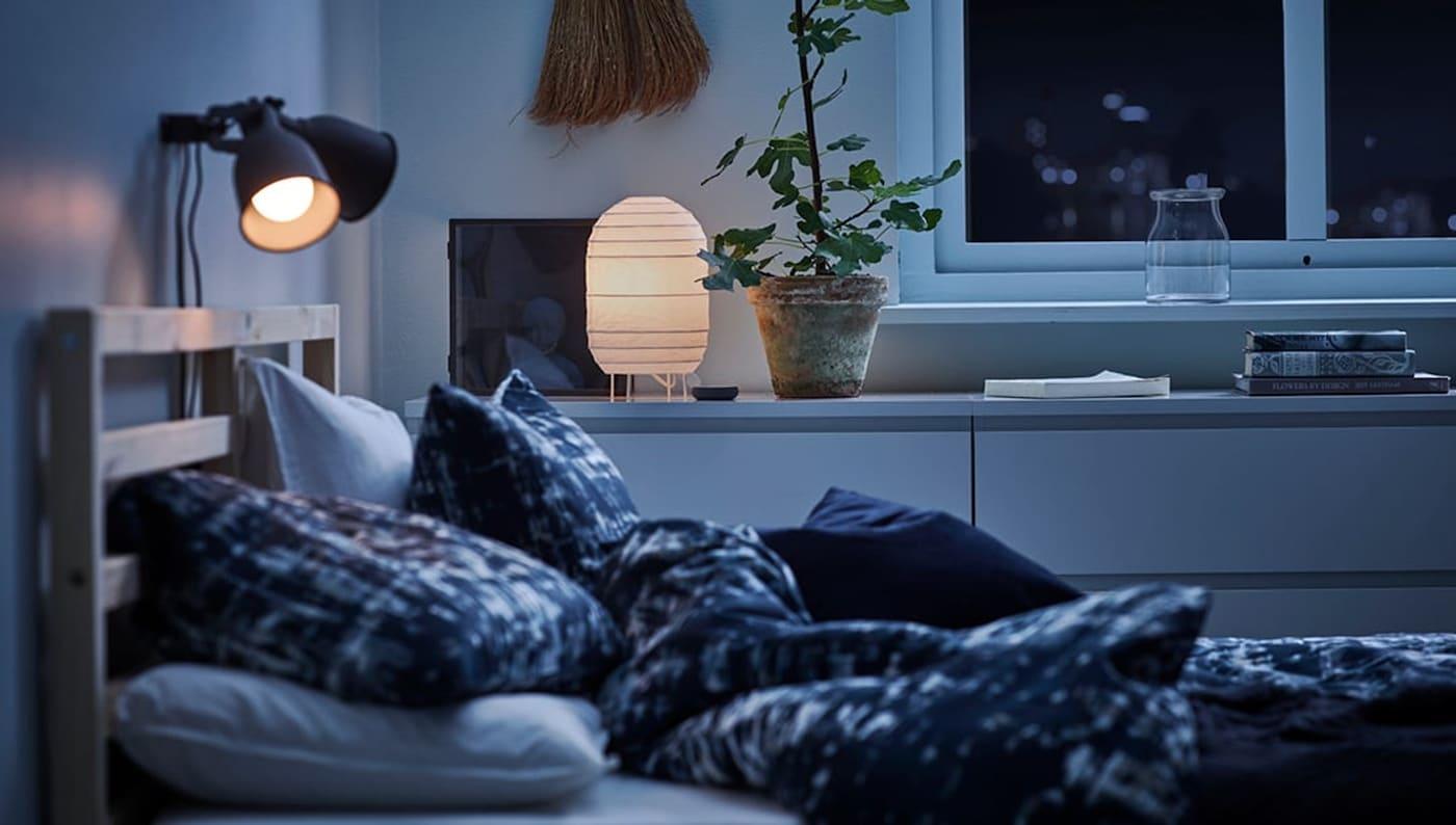 Slimme verlichting slaapkamer - tips - IKEA wooninspiratie