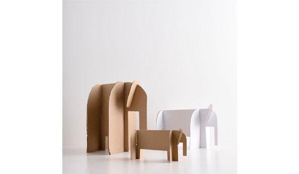 słonik z kartonu