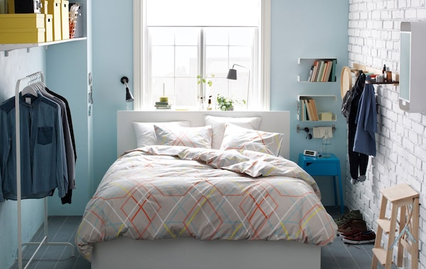 Smart ideas for clothes storage in a small space IKEA Fascinating Small Bedroom