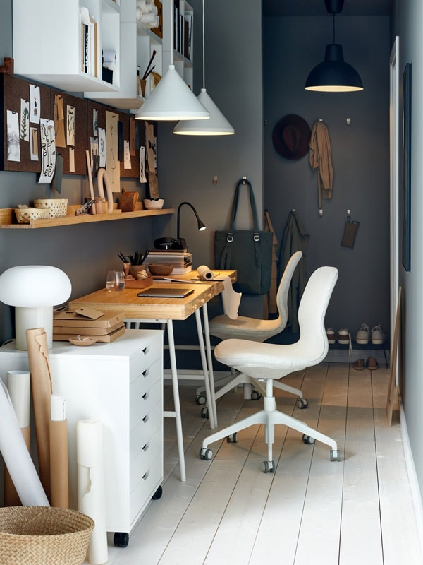 Small workspace ideas in the hallway.