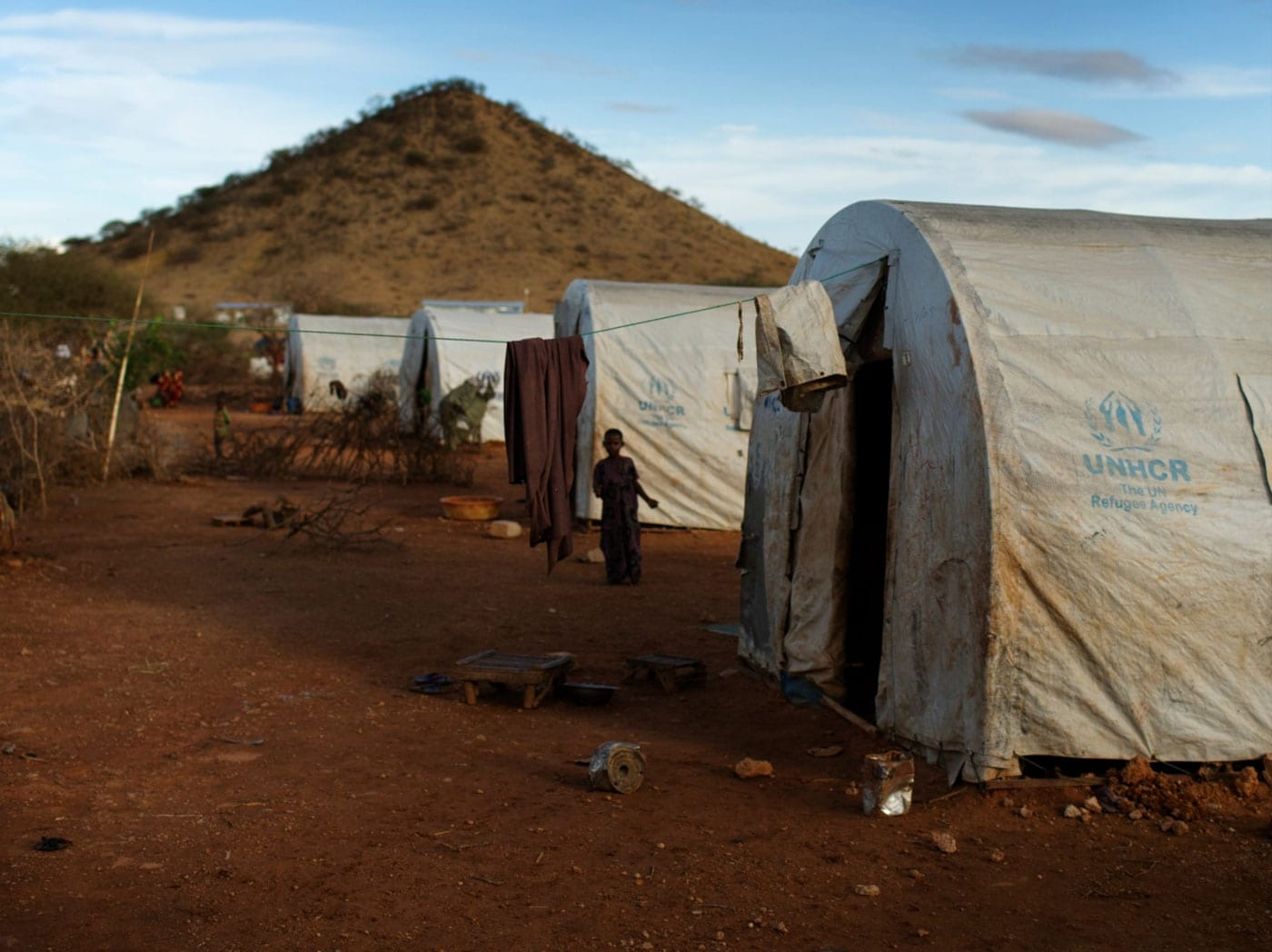Smejúci sa chlapec z tábora pre deti bez domova, ktorý riadi partnerská organizácia Save the Children Retrak v hlavnom meste Etiópie Addis Ababa.