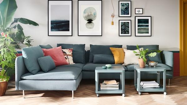 SÖDERHAMN baby blue sofa set.
