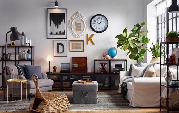 Stile industriale per un soggiorno con personalità - IKEA