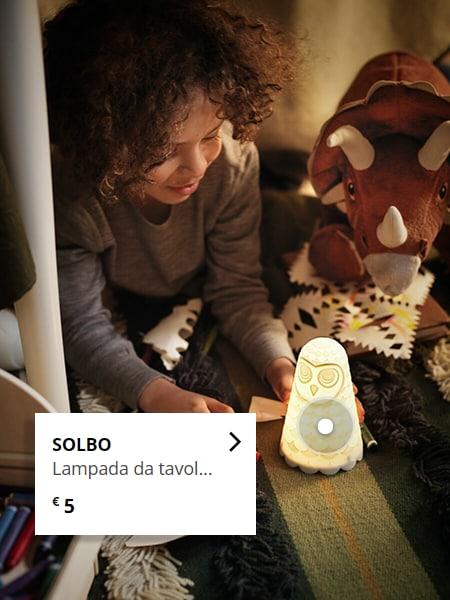 SOLBO Lampada da tavolo a LED, bianco gufo/a batterie