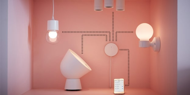 cómo reiniciar a fábrica mando luces ikea