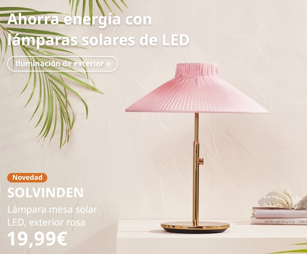 SOLVINDEN Lámpara mesa solar LED, exterior rosa