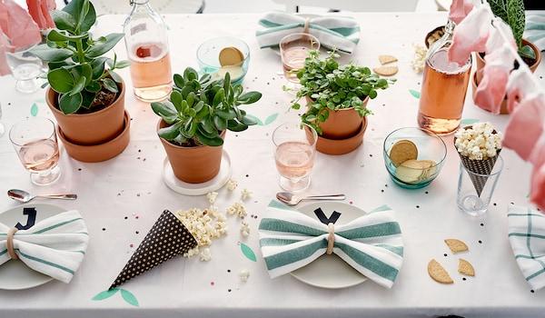 Sommerparty Tischdekoration