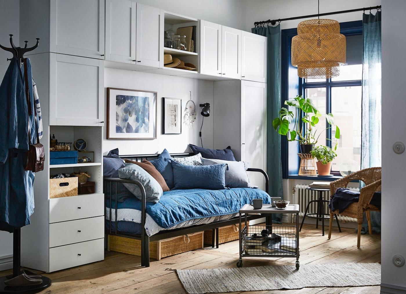 Спальня-гостиная с кушеткой ФИРЕСДАЛЬ и системой хранения ОПХУС