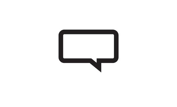 Speech bubble icon for feedback