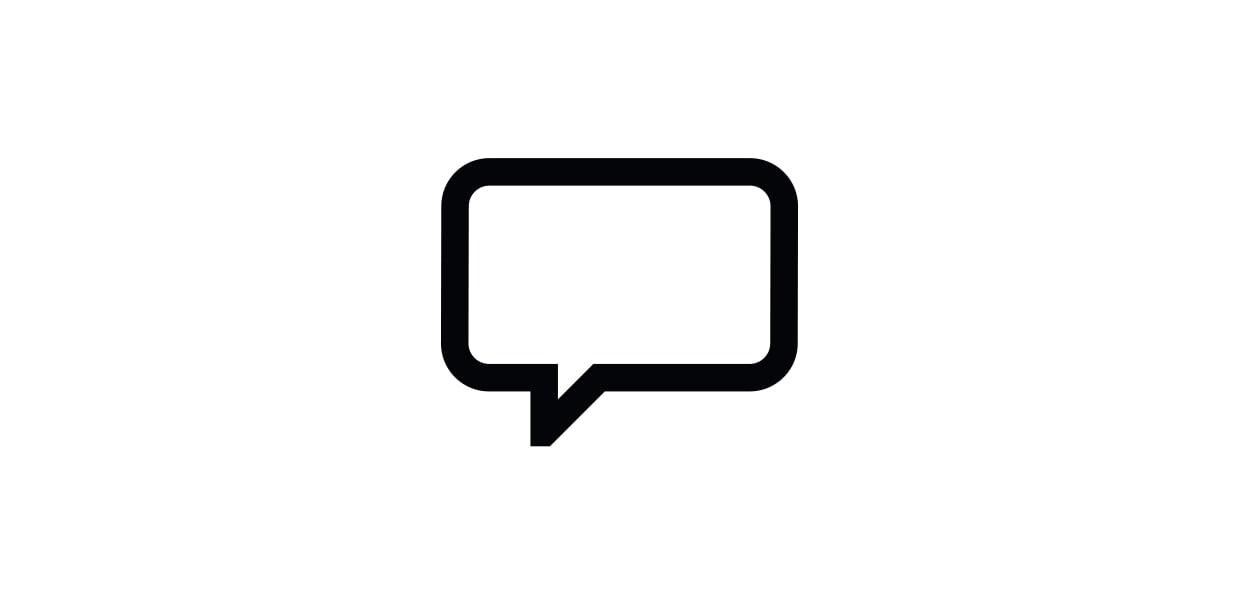Speech bubble pictogram