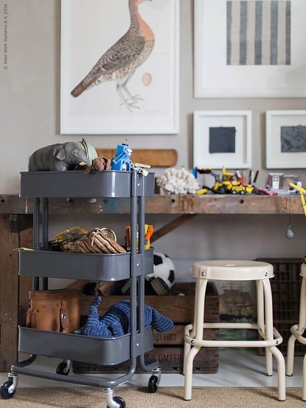 speelgoed opbergen - RASKOG roltafel - IKEA wooninspiratie