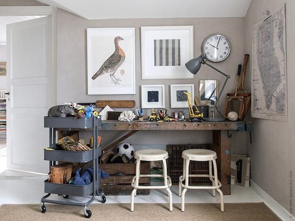 speelgoed opbergen - RASKOG roltafel kruk - IKEA wooninspiratie