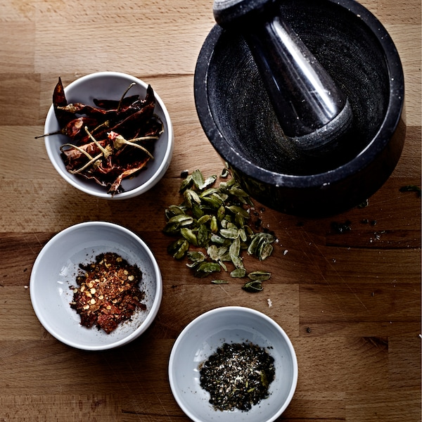 Spices give lots more flavour if your grind up whole ones right when you want to use them.