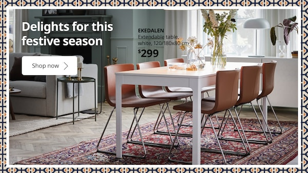 Spruce up your dining area with EKADELEN Table this Raya