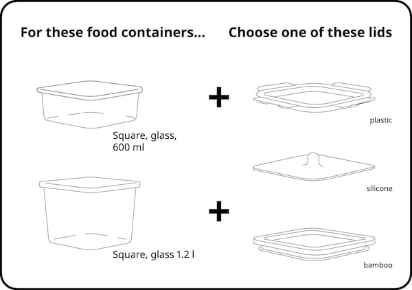 Square containers graphic
