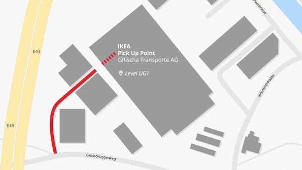 Standort des IKEA Pick-Up Point in Chur