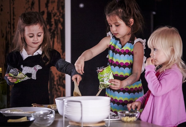 Step-stools are a handy way to get kids in involved in cooking with adults