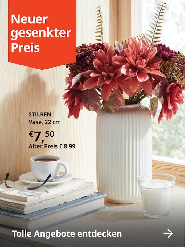 STILREN Vase mit Blumen zum neuen gesenkten Preis