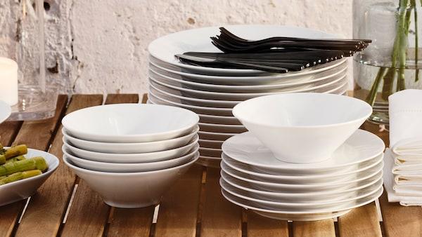 Столовая посуда ИКЕА 365+.