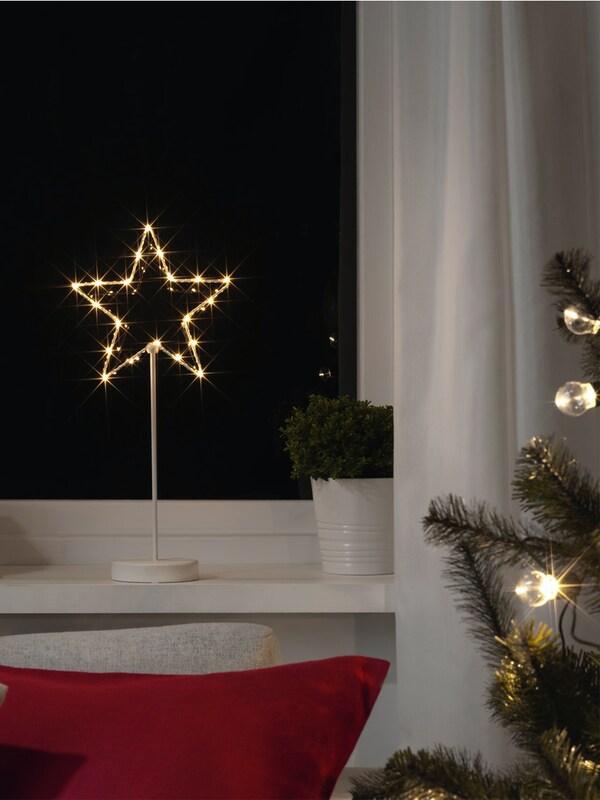 STRÅLA Dekorace na stůl LED, na baterie/hvězda 3.