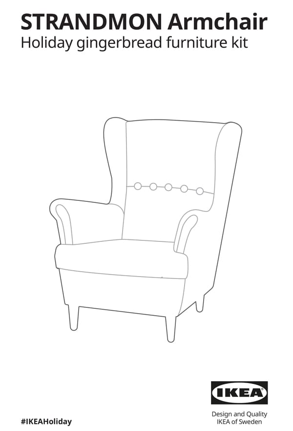 STRANDMON Armchair gingerbread assembly instructions