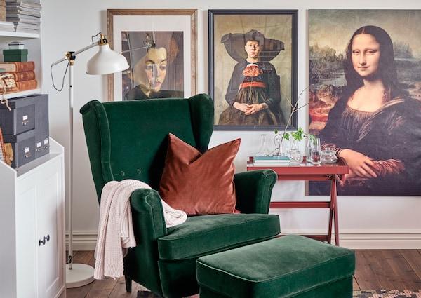 STRANDMON armchair green