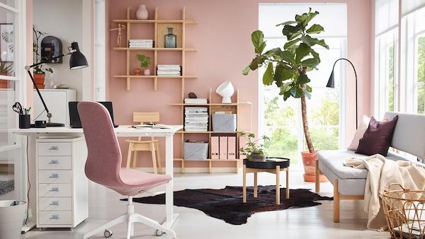 Scrivania Con Libreria A Ponte Ikea.Arredamento Da Ufficio E Studio Ikea