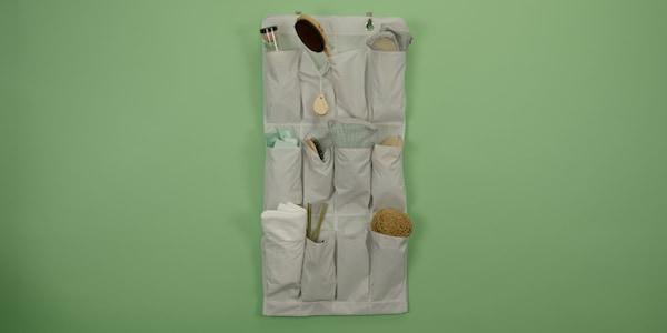 STUK Hängeaufbewahrung mit 16 Fächern in weiß/grau passt perfekt ins Badezimmer