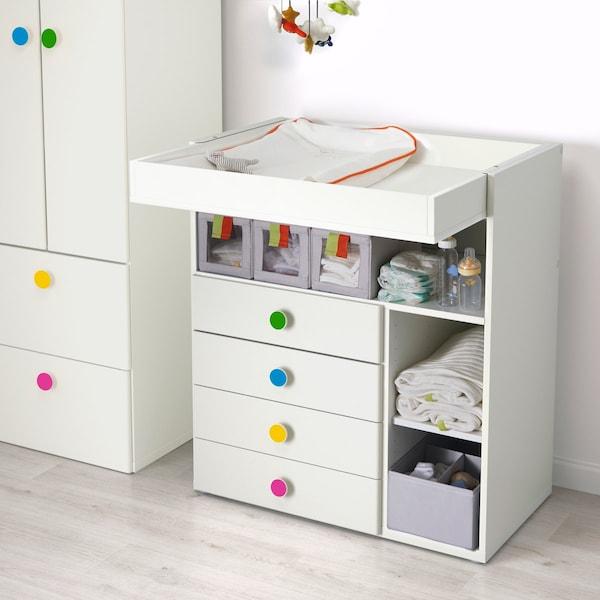 STUVA / FÖLJA table à langer avec 4 tiroirs