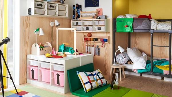 Sugerencias sobre el almacenaje para las cosas de tus hijos, que ellos también usarán.