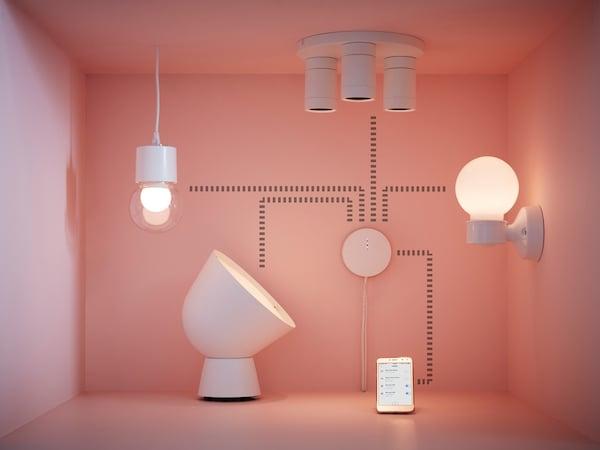 Support til IKEA Home smart produkter.