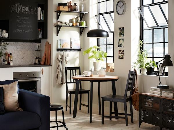 f inspirasjon til spiseplassen ikea. Black Bedroom Furniture Sets. Home Design Ideas